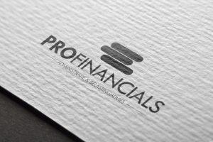 Detail of businesscard tax advisor profinancials Eindhoven